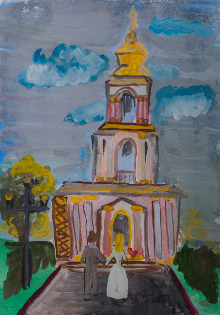 Church of St. George the Victorious, Victory Avenue,  :Children's Art Festival Our Kursk: CHILDREN DRAW THE CHURCH