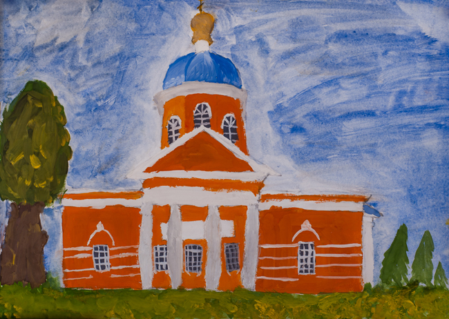 Temple of Archangel Michael, Kursk,  :Children's Art Festival Our Kursk: CHILDREN DRAW THE CHURCH