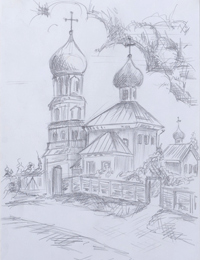 Fane, Anenkova Angelina : Children's Art Festival Our Kursk: CHILDREN DRAW THE CHURCH
