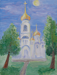 Road to the Temple, Belyaeva Anastasia : Children's Art Festival Our Kursk: CHILDREN DRAW THE CHURCH