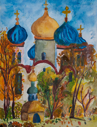 Transfiguration, Bolotina Victoria : Children's Art Festival Our Kursk: CHILDREN DRAW THE CHURCH