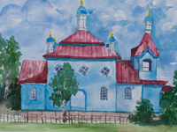 Church of St. Michael the Archangel, Brezhnev Igor : Children's Art Festival Our Kursk: CHILDREN DRAW THE CHURCH