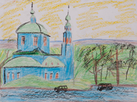 Upper Trinity Cathedral, Chernyaev Seraphim : Children's Art Festival Our Kursk: CHILDREN DRAW THE CHURCH