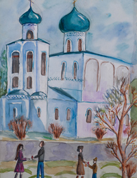 The Easter, Goncharova Anastasia : Children's Art Festival Our Kursk: CHILDREN DRAW THE CHURCH