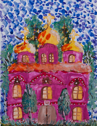 My Temple, Gorbacheva Valentine : Children's Art Festival Our Kursk: CHILDREN DRAW THE CHURCH