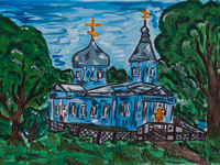 Elias Church, village Polukotelnikovo, Anna Kolesnikova : Children's Art Festival Our Kursk: CHILDREN DRAW THE CHURCH