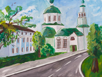 Holy Trinity Church, Anastasia Boyko : Children's Art Festival Our Kursk: CHILDREN DRAW THE CHURCH