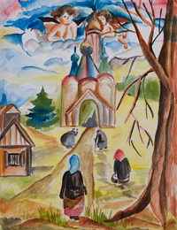 On a great holiday, Monastyryova Anastasia : Children's Art Festival Our Kursk: CHILDREN DRAW THE CHURCH