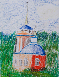 Temple of Archangel Michael, Potolova Sofia : Children's Art Festival Our Kursk: CHILDREN DRAW THE CHURCH