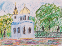 The Church of St. Nikita, Reshetova Sofia : Children's Art Festival Our Kursk: CHILDREN DRAW THE CHURCH