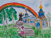 Holy Corner beloved city, Rubtsova Alina : Children's Art Festival Our Kursk: CHILDREN DRAW THE CHURCH