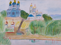 Root Hermitage, Vasilevskiy Sergey : Children's Art Festival Our Kursk: CHILDREN DRAW THE CHURCH