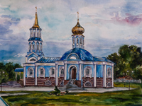 Church of the Holy Virgin, Umerenkova Elena : Children's Art Festival Our Kursk: CHILDREN DRAW THE CHURCH