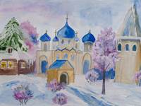 Kursk Orthodox, Mashoshina Mariya : Children's Art Festival Our Kursk: CHILDREN DRAW THE CHURCH