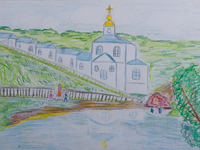Aboriginal desert village Svoboda, Golovina Anna : Children's Art Festival Our Kursk: CHILDREN DRAW THE CHURCH