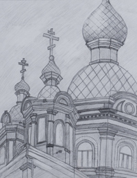 Ascension Church, Ivanov Konstantin : Children's Art Festival Our Kursk: CHILDREN DRAW THE CHURCH