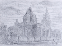 Ascension Church, Stroganov Vladislav : Children's Art Festival Our Kursk: CHILDREN DRAW THE CHURCH