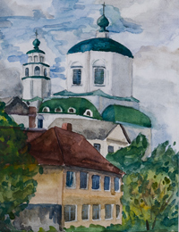 Holy Trinity Monastery, Maslennikova Victoria : Children's Art Festival Our Kursk: CHILDREN DRAW THE CHURCH