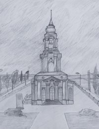 The Church of St. George, Ivanov Konstantin :: Children's Art Festival Our Kursk: CHILDREN DRAW THE CHURCH