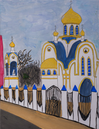 Church of the Holy Royal Martyrs, Pereverzeva Maria : Children's Art Festival Our Kursk: CHILDREN DRAW THE CHURCH