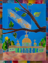 "Znamensky cathedral in equipment ""batic"", Voronin Olga : Children's Art Festival Our Kursk: CHILDREN DRAW THE CHURCH"