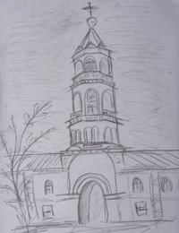 Root Hermitage, Bashkardin Paul : Children's Art Festival Our Kursk: CHILDREN DRAW THE CHURCH