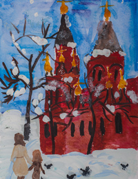 St. Nicholas Church, Lgov, Onoprenko Anastasia : Children's Art Festival Our Kursk: CHILDREN DRAW THE CHURCH