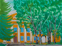 Temple Theodosius Pechersky in Orthodox School, Volobuev Jaroslav : Children's Art Festival Our Kursk: CHILDREN DRAW THE CHURCH