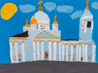Znamensky male monastery, Kursk, Ignateva Ekaterina : Children's Art Festival Our Kursk: CHILDREN DRAW THE CHURCH