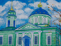 Holy Trinity Church settlement White, Shaposhnikova Nadezhda : Children's Art Festival Our Kursk: CHILDREN DRAW THE CHURCH