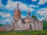 The Church of St. George of St. Pobednostsa, village Little Soldier, Lifintseva Olga : Children's Art Festival Our Kursk: CHILDREN DRAW THE CHURCH