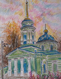 Holy Trinity Church settlement Belaya, Grigorenko Margarita : Children's Art Festival Our Kursk: CHILDREN DRAW THE CHURCH
