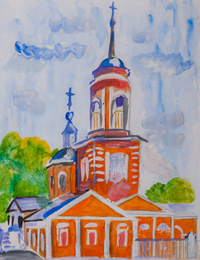Michael Church, Kuznetsova Anastasia : Children's Art Festival Our Kursk: CHILDREN DRAW THE CHURCH