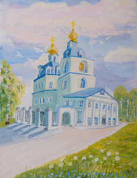 Sergiev Kazan Cathedral Kursk, Akulenkova Alain : Children's Art Festival Our Kursk: CHILDREN DRAW THE CHURCH