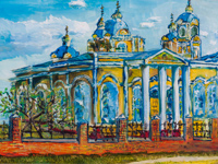 Ascension Church in Kursk, Kovalchuk Olga : Children's Art Festival Our Kursk: CHILDREN DRAW THE CHURCH