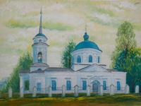 Holy Trinity Church settlement Belaya, Petrova Kristina : Children's Art Festival Our Kursk: CHILDREN DRAW THE CHURCH