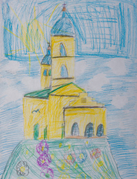 All Saints church, Kursk, Shatokhina Anna :: Children's Art Festival Our Kursk: CHILDREN DRAW THE CHURCH
