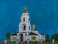 Smolensk church, Obojan, Anikeev Michael : Children's Art Festival Our Kursk: CHILDREN DRAW THE CHURCH