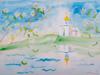 Holy Trinity Church, village Mansurovo, Eliseev Rose : Children's Art Festival Our Kursk: CHILDREN DRAW THE CHURCH