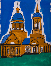 St. Nicholas Church, Lgov, Chechetkin Maxim : Children's Art Festival Our Kursk: CHILDREN DRAW THE CHURCH