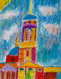 Church of St. Michael the Archangel, Kursk, Ivolgina Sofia : Children's Art Festival Our Kursk: CHILDREN DRAW THE CHURCH