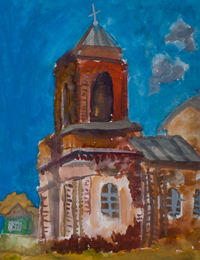 Toll, Komnatskiy Dmitry : Children's Art Festival Our Kursk: CHILDREN DRAW THE CHURCH