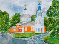 Church of St. Nicholas, Kursk, Alexander Berezovsky : Children's Art Festival Our Kursk: CHILDREN DRAW THE CHURCH