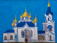 Vvedensky church, Kursk, Zavyalova Ulyana : Children's Art Festival Our Kursk: CHILDREN DRAW THE CHURCH