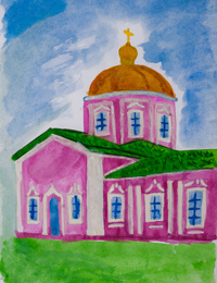 Voskresensko Elias church in Kursk, Eliseev Nikita : Children's Art Festival Our Kursk: CHILDREN DRAW THE CHURCH