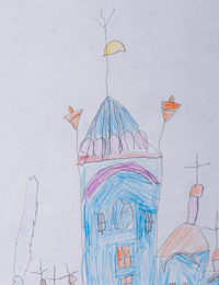 Sergiev Kazan Cathedral, Kursk, Konoreva Alexander :: Children's Art Festival Our Kursk: CHILDREN DRAW THE CHURCH