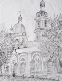 Church of the Ascension, Kursk, Moskvina Margarita : Children's Art Festival Our Kursk: CHILDREN DRAW THE CHURCH