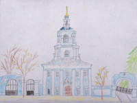 Sergiev Kazan Cathedral, Urazaeva Irina : Children's Art Festival Our Kursk: CHILDREN DRAW THE CHURCH