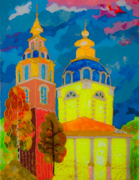 Sergiev Kazan Cathedral, Kursk, Trubnikov Maya : Children's Art Festival Our Kursk: CHILDREN DRAW THE CHURCH