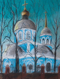 Vvedensky church, Kursk, Vinnikova Elena : Children's Art Festival Our Kursk: CHILDREN DRAW THE CHURCH